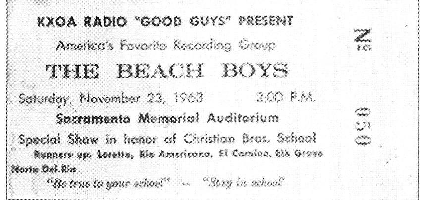 1963 - Beach Boys Gigs