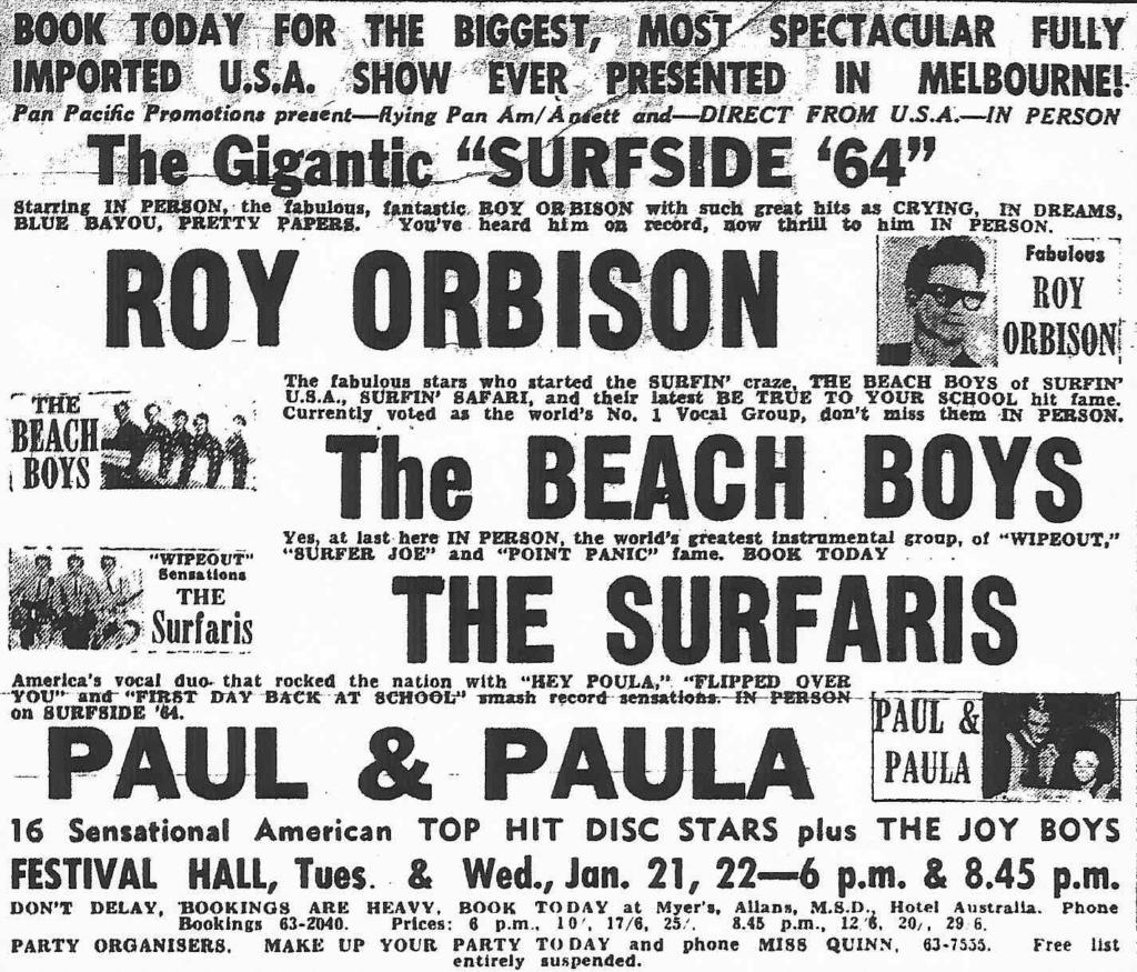 1964 - Beach Boys Gigs